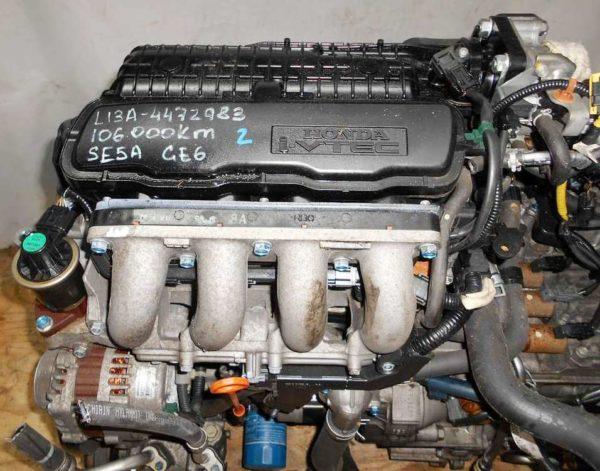 Двигатель Honda L13A - 4472983 CVT SE5A FF GE6 106 000 km коса+комп, нет выпускного коллектора 2