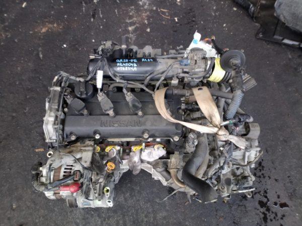 Двигатель Nissan QR25-DE - 056824A AT RE4F04B FF RC24 144 500 km коса+комп 2