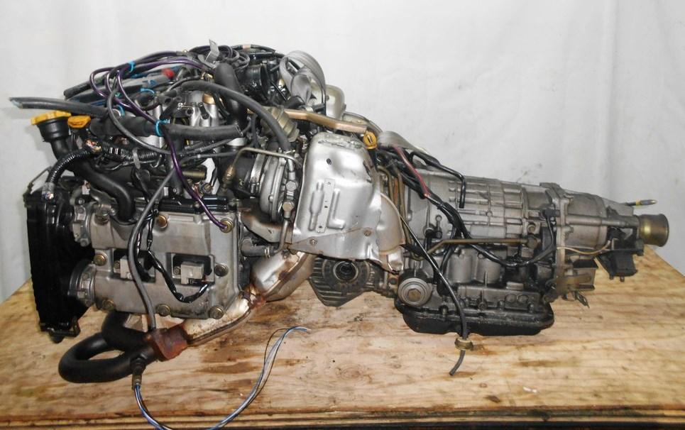 Двигатель Subaru EJ20-ТТ - B784747 AT TV1B4YBEAB FF 4WD BH5 EJ206 66 000 km 1