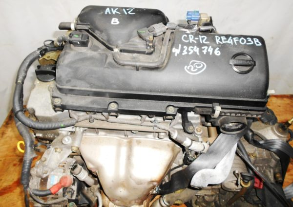 Двигатель Nissan CR12-DE - 354746 AT RE4F03B FF AK12 115 000 km коса+комп 2