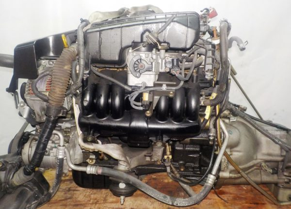 Двигатель Toyota 1G-FE - 7042309 AT 03-70LS A42DE-A04A FR GX110 BEAMS 160 980 km коса+комп 1