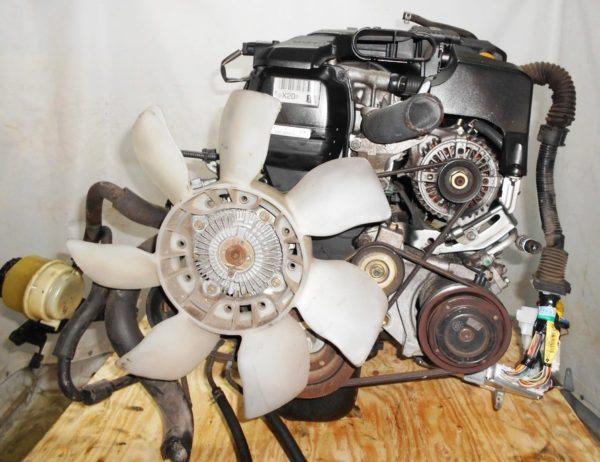 Двигатель Toyota 1G-FE - 6945701 AT 03-70LS A42DE-A05A FR GX110 BEAMS 108 000 km коса+комп 2