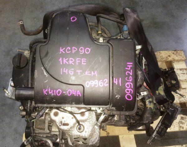 Двигатель Toyota 1KR-FE - 0996241 AT K410-04A FF KCP90 146 000 km коса+комп 2