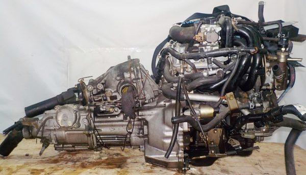Двигатель Daihatsu EF-DEM - 7245029 MT FR 4WD J111G 124 000 km + передний редуктор коса+комп 1