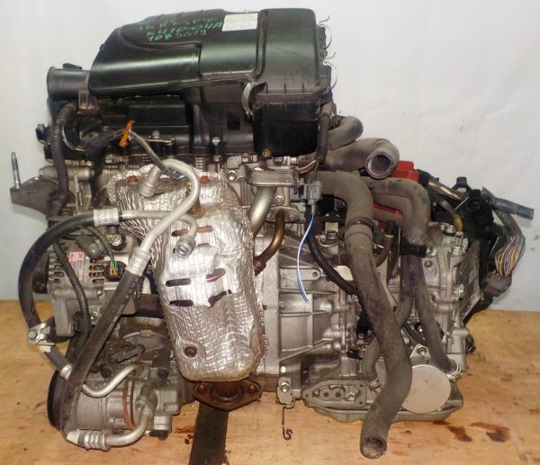 Двигатель Toyota 1KR-FE - 1085619 CVT K410-04A FF KSP90 коса+комп 1