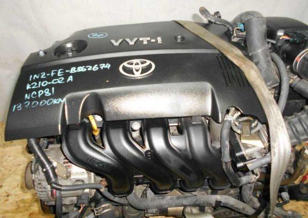 Двигатель Toyota 1NZ-FE - B362674 CVT K210-02A FF NCP81 137 000 km электро дроссель коса+комп 2