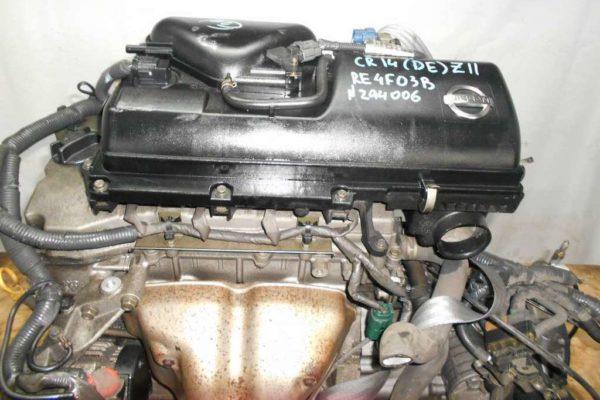 Двигатель Nissan CR14-DE - 294006 AT RE4F03B FF Z11 102 000 km коса+комп 2