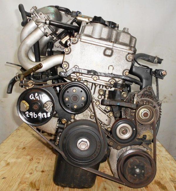 Двигатель Nissan QG15-DE - 29918B AT RE4F03B FQ38 FF Y11 электро дроссель коса+комп 4