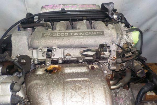 Двигатель Toyota 3S-GE - 9294388 AT FF ST202 трамблер коса+комп 2