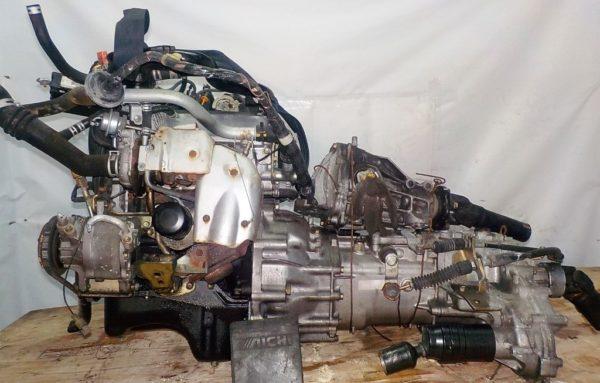 Двигатель Daihatsu EF-DEM - 7245029 MT FR 4WD J111G 124 000 km + передний редуктор коса+комп 5