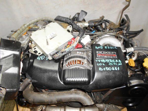 Двигатель Subaru EJ20-TT - B150261 AT TV1B4YВCAB FF 4WD BH5 EJ206DXCBE 101 000 km 00′ комп 2