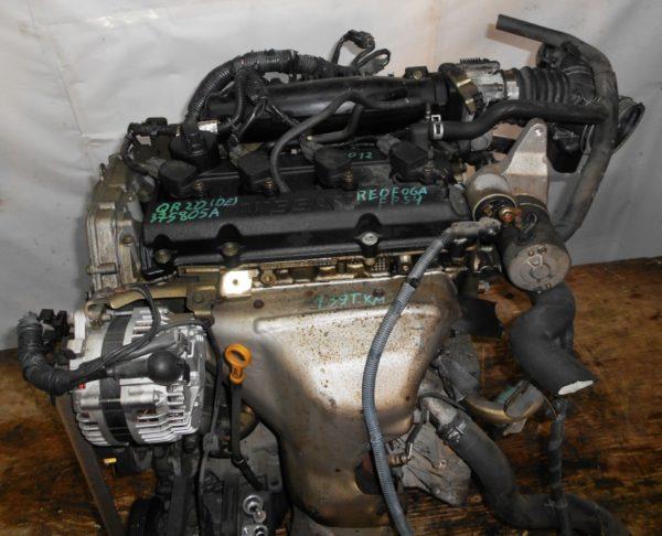 Двигатель Nissan QR20-DE - 375805A CVT RE0F06A FP54 FF TP12 139 000 km коса+комп 2