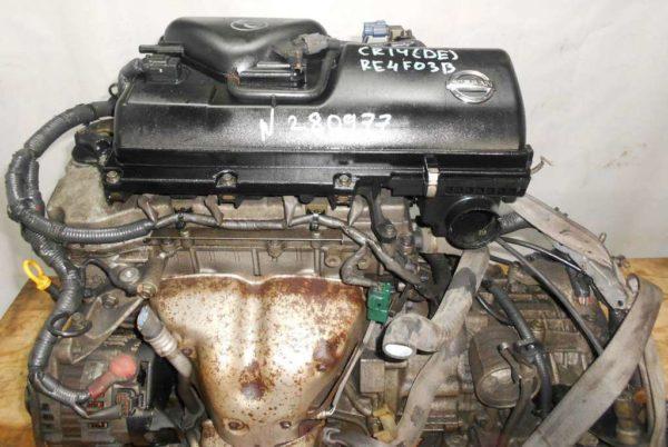 Двигатель Nissan CR14-DE - 280977 AT RE4F03B FF Z11 119 000 km коса+комп 2