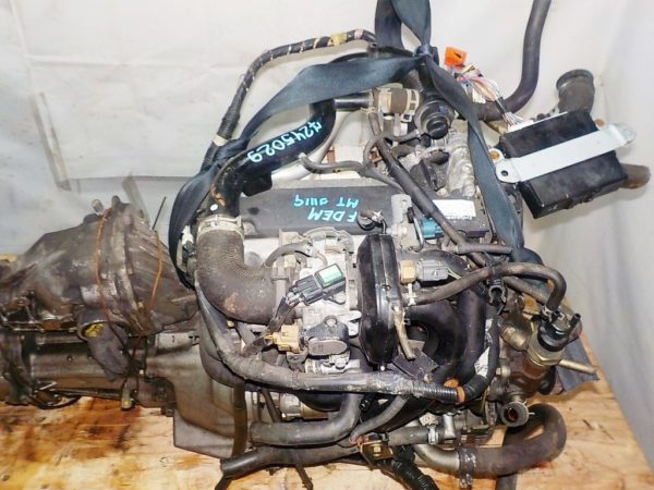 Двигатель Daihatsu EF-DEM - 7245029 MT FR 4WD J111G 124 000 km + передний редуктор коса+комп 2