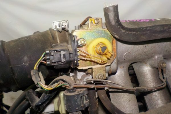 Двигатель Toyota 5E-FE - 0880195 AT A244F FF 4WD трамблер коса+комп 6