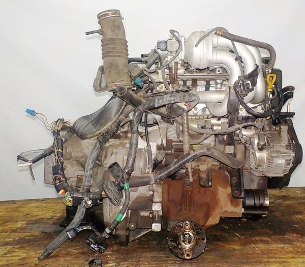 Двигатель Toyota 4E-FE - 2234786 AT A244F FF 4WD коса+комп, брак компа 4