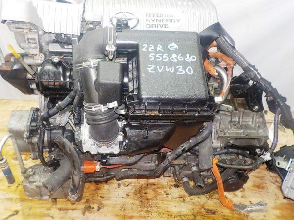 Двигатель Toyota 2ZR-FXE - 5558680 CVT P410-01A FF ZVW30 112 000 km коса+комп 2