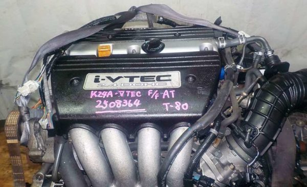 Двигатель Honda K24A - 2508364 AT MGTA FF Accord коса 2