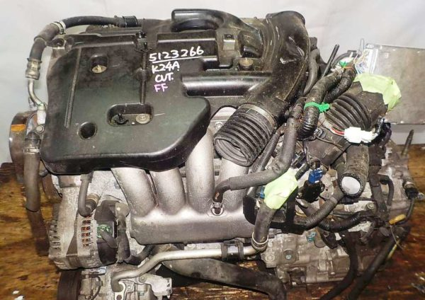 Двигатель Honda K24A - 5123266 AT MFHA FF Odyssey коса+комп 2