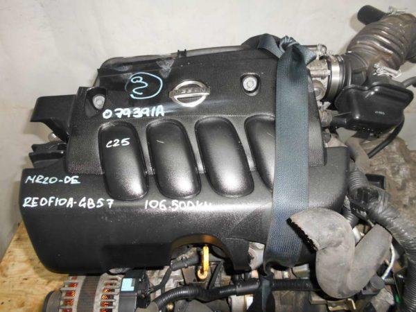 Двигатель Nissan MR20-DE - 079391A CVT RE0F10 GB57 FF C25 106 500 km коса+комп 2