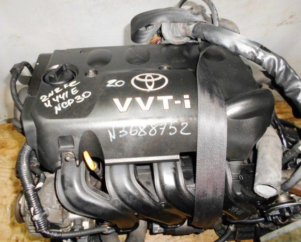 Двигатель Toyota 2NZ-FE - 3688752 AT U441E FF NCP30 коса+комп, без датчика скорости 2