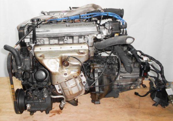 Двигатель Toyota 4E-FE - 0418056 MT C140 FF EL41 77 000 km трамблер коса+комп 1