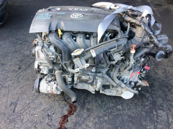 Двигатель Toyota 1NZ-FE - D527203 CVT K210-02A FF NCP81 152 000 km электро дроссель коса+комп 1