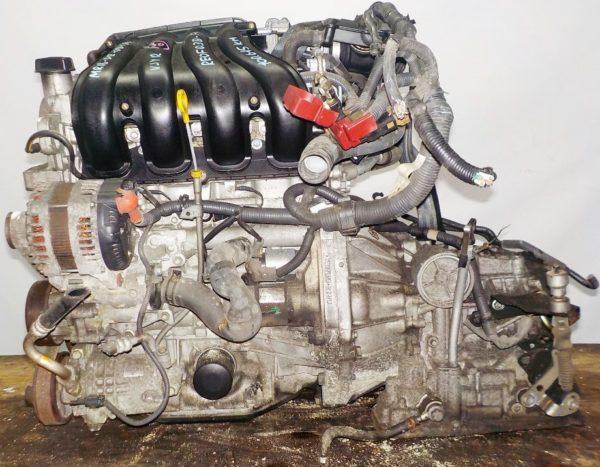 Двигатель Nissan MR18-DE - 081803A AT RE4F03B FQ40 FF VJY12 100 615 km коса+комп 1