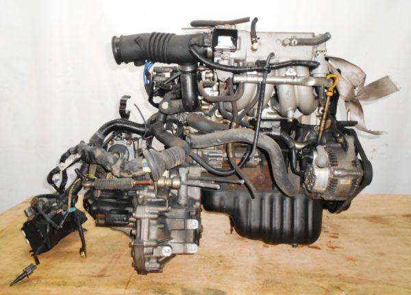 Двигатель Toyota 4E-FE - 0418056 MT C140 FF EL41 77 000 km трамблер коса+комп 4