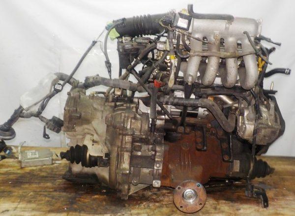 Двигатель Toyota 5E-FE - 0880195 AT A244F FF 4WD трамблер коса+комп 5
