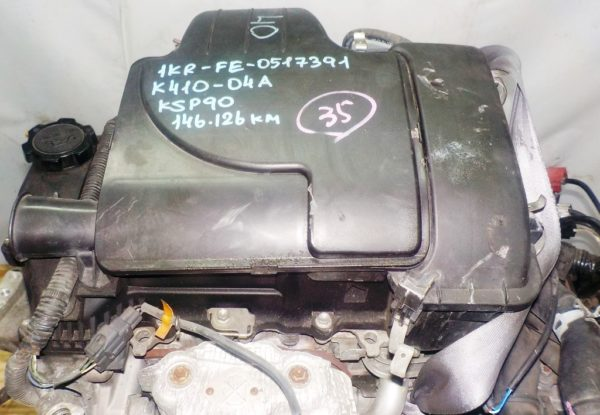 Двигатель Toyota 1KR-FE - 0517391 CVT K410-04A FF KSP90 146 126 km коса+комп 2