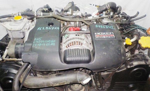 Двигатель Subaru EJ20-TT - B486342 AT TV1B4YBDAB 4WD BH5 EJ206DXDBE 153 967 km комп 2