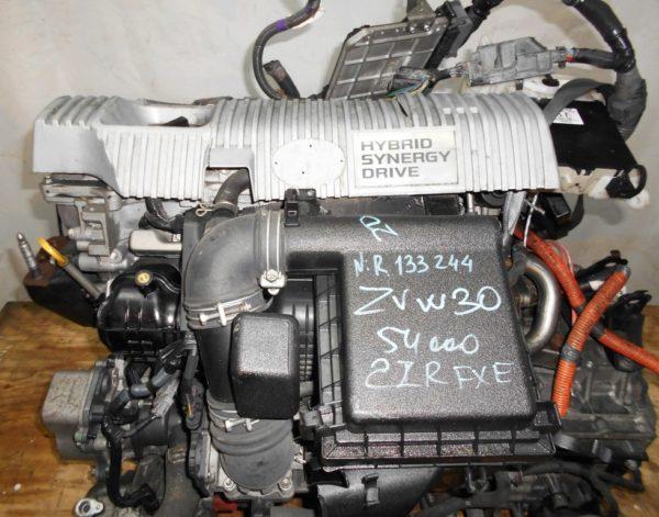 Двигатель Toyota 2ZR-FXE - R133244 AT FF ZVW30 54 000 km коса+комп 2
