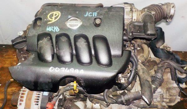 Двигатель Nissan MR18-DE - 007499A CVT RE0F08A FF коса+комп 2