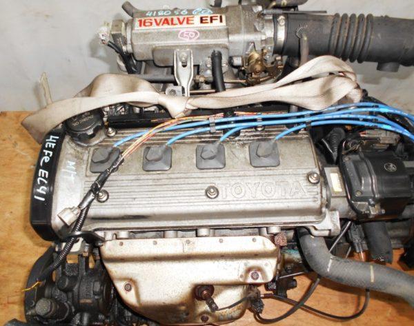 Двигатель Toyota 4E-FE - 0418056 MT C140 FF EL41 77 000 km трамблер коса+комп 2