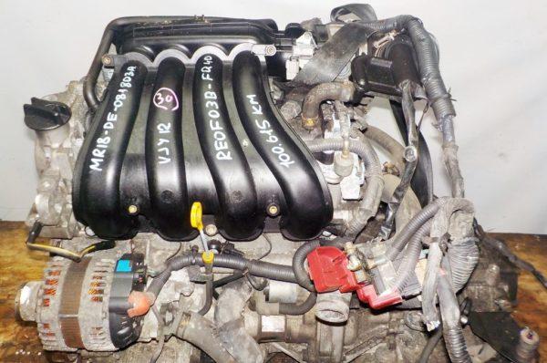 Двигатель Nissan MR18-DE - 081803A AT RE4F03B FQ40 FF VJY12 100 615 km коса+комп 2