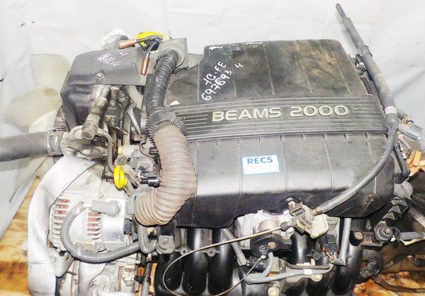 Двигатель Toyota 1G-FE - 6976934 AT 03-70LS 35000-2C400 FR BEAMS коса+комп 2