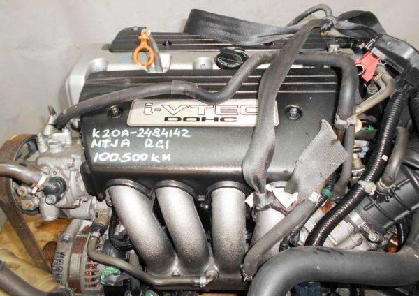 Двигатель Honda K20A - 2484142 AT MTJA FF RG1 100 500 km коса+комп 2
