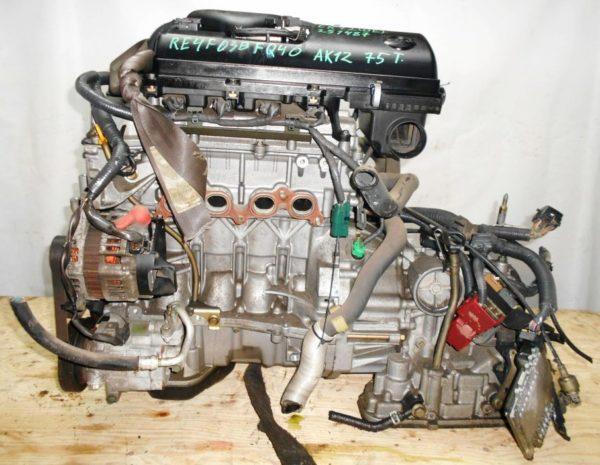 Двигатель Nissan CR12-DE - 251487 AT RE4F03B FQ40 FF AK12 75 000 km коса+комп 1