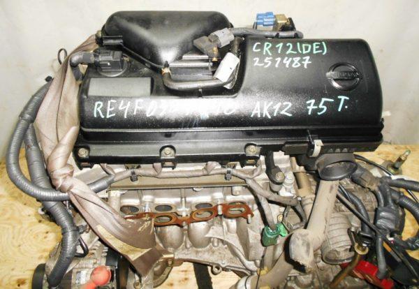 Двигатель Nissan CR12-DE - 251487 AT RE4F03B FQ40 FF AK12 75 000 km коса+комп 6