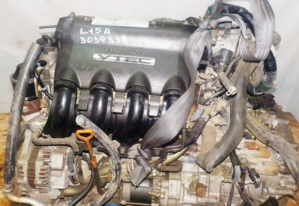 Двигатель Honda L15A - 3039338 CVT SFBA FF GK1 коса+комп 2