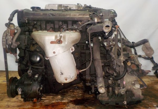 Двигатель Toyota 5E-FE - 0880195 AT A244F FF 4WD трамблер коса+комп 1