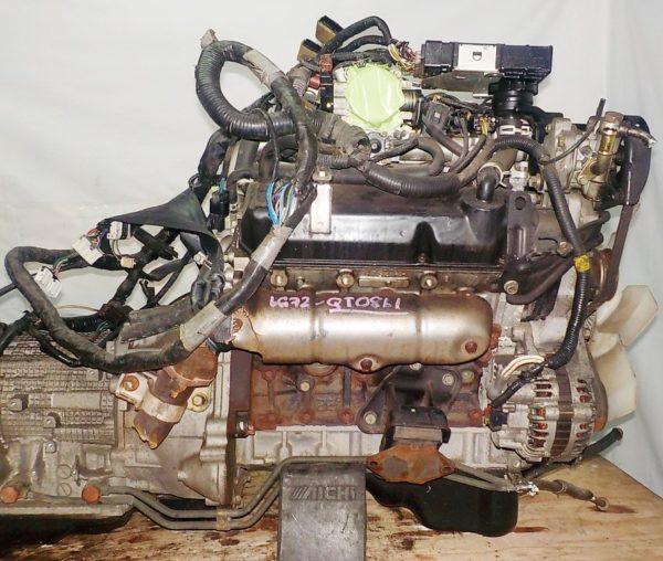 Двигатель Mitsubishi 6G72 - QT0861 AT FR 4WD Delica катушка коса+комп 6