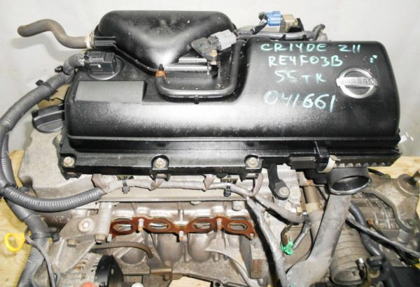Двигатель Nissan CR14-DE - 041661 AT RE4F03B FQ40 FF Z11 55 000 km коса+комп 2