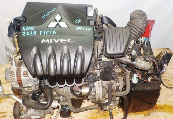 Двигатель Mitsubishi 4A90 - 0017410 CVT F1C1A FF Z21A 79 000 km коса+комп 2