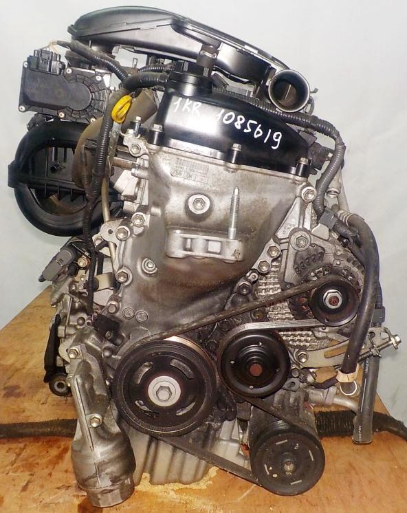 Двигатель Toyota 1KR-FE - 1085619 CVT K410-04A FF KSP90 коса+комп 3