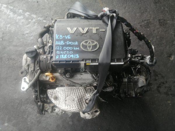Двигатель Daihatsu K3-VE - 1880913 AT A4B-01A FF QNC20 122 000 km коса+комп 2