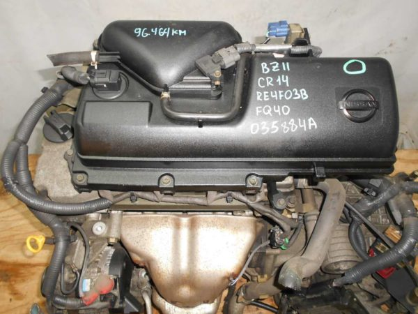 Двигатель Nissan CR14-DE - 035884A AT RE4F03B FQ40 FF BZ11 96 000 km коса+комп 2