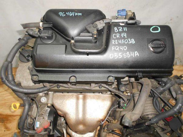Двигатель Nissan CR14-DE - 035884A AT RE4F03B FQ40 FF BZ11 96 000 km коса+комп 2